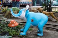 卡通小象雕塑