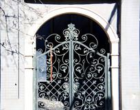 欧式铁艺大门背景