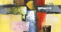 厚油抽象画