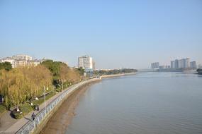 宁波江边公园走廊