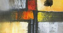 色块抽象画 厚油抽象油画