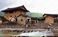 乡村民居风景画