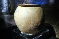 新石器时代晚期陶绳纹花边罐