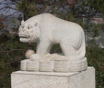 十二生肖虎石雕