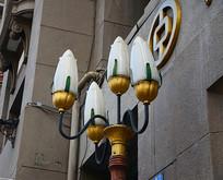 花型金属托花瓣灯
