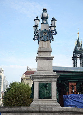 欧式石柱创意广场照明灯