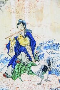 千山西阁小蓬莱壁画八仙韩湘子
