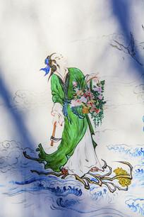 千山西阁小蓬莱壁画八仙蓝采和