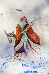 千山西阁小蓬莱壁画八仙张国老