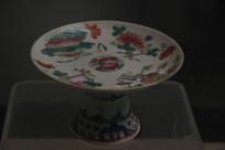 清代粉彩高把瓷供碗