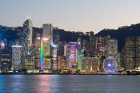 香港中环维多利亚港夜景