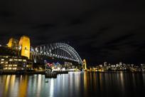 悉尼海港大桥夜景