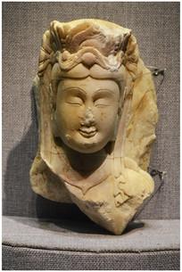 北齐菩萨石雕头像