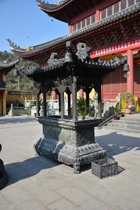 慈寂寺院长形香炉