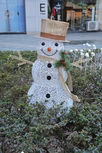 灯光雪人模型