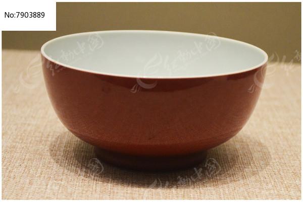 清康熙豇豆红碗