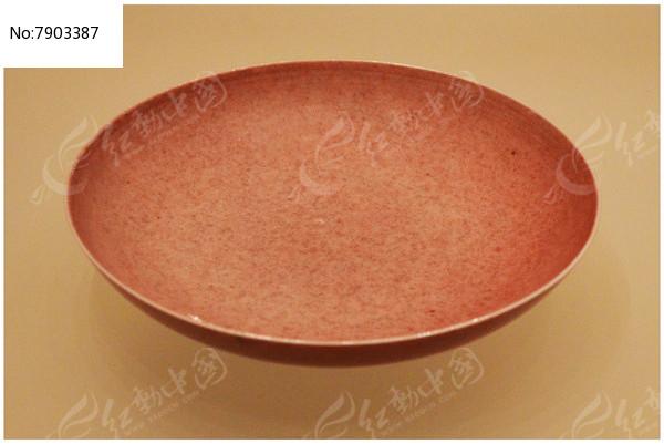 清雍正豇豆红小盘