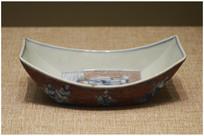 清雍正青花海水纹碗