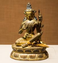 铜镀金虚空藏菩萨像