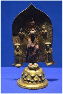 铜流金释迦牟尼佛造像