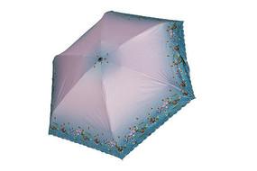 蓝粉色雨伞