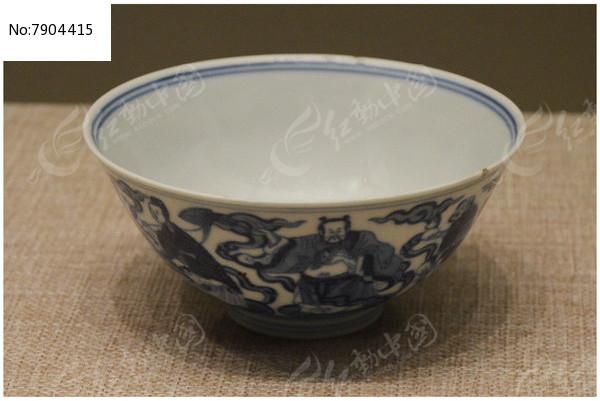 清代康熙款八仙人物纹碗