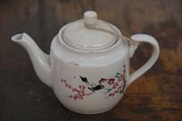 老物件喜上眉梢白瓷茶壶