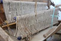 老物件织布机部件