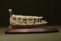 民国象牙雕船