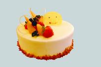 微笑草莓奶油蛋糕