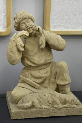 雕塑老猎人