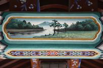 古建彩绘湖岸