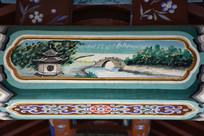 古建彩绘凉亭拱桥