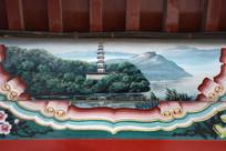 古建彩绘山林古寺
