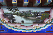 古建彩绘水乡民居