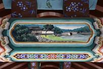 古建彩绘小桥民居图