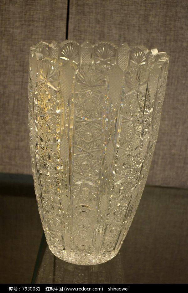 捷克花纹玻璃杯