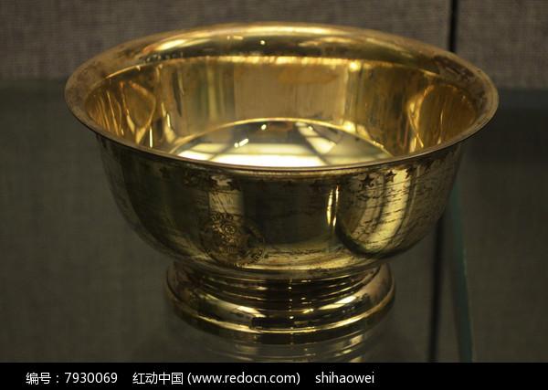 圈足鎏金铜碗