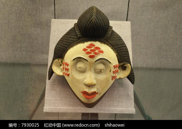 日本木雕头像近摄