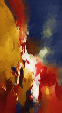玄关装饰画壁画背景墙抽象油画