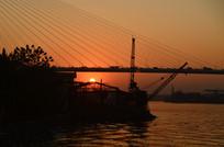 江河日出风光图片