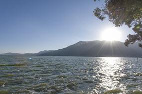 滇池的日落