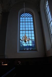 教堂的花格玻璃