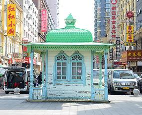 绿色欧式小房子