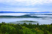 迷人的山林晨雾