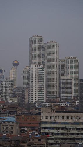 鸟瞰城市建筑