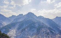 千山弥勒宝塔与山峰山脉