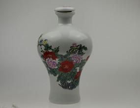 陶瓷牡丹图酒壶