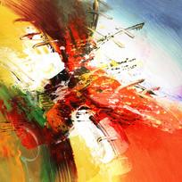 现代风格抽象油画无框画