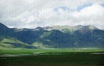 西藏山坡风景